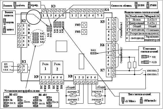 Схема подключения контроллера GATE-8000